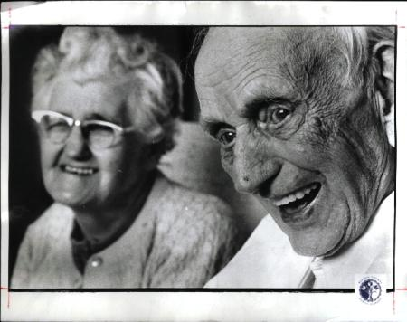 Image: di00618 - Mrs. Leo Luebbe, Leo Leubbe, 92, story on old people