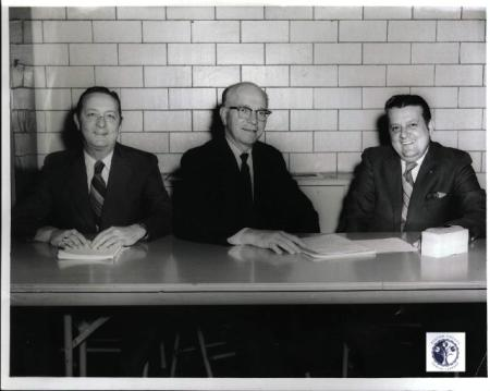 Image: di00909 - Dave Bogart, Christian Brother Edmund and Gene Enzweiler, co-chairman of Spring Dance at Newport Catholic....