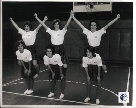 Image: di01112 - Highlands High School cheerleading squad
