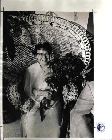 Image: di01170 - Mrs. Beulah Latimer, named Woodspoint Nursing Home Queen