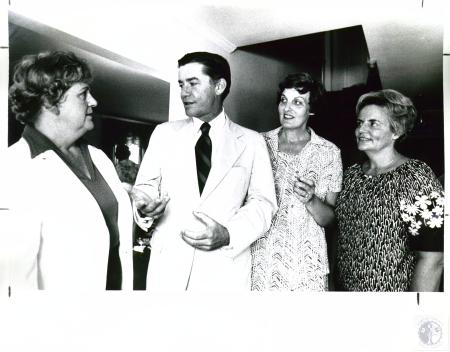 Image: di01353 - Eileen Harper, Dr. Robert Giroux and Marge O'Connor.  Women's Guild Kick Off Holiday open house at Summit....