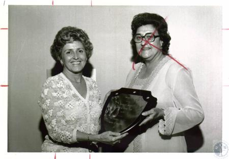 Image: di03952 - Hilda Huddle presenting Rosemary Beiting with Realtor of the Year Award