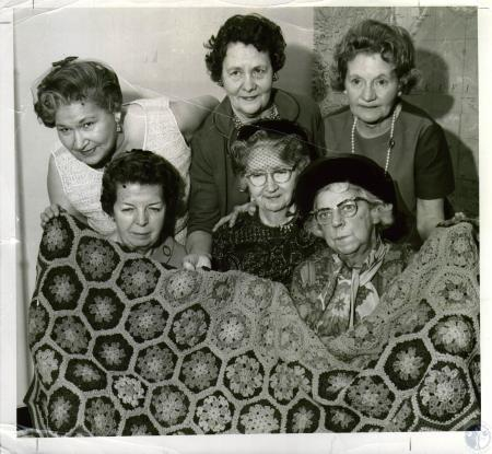 Image: di04615 - (Seated) Mrs. Lillian Vollmer, Mrs. Irene Green, Mrs. Ida Fitzpatrick; (standing) Mrs. Charles Burns,....