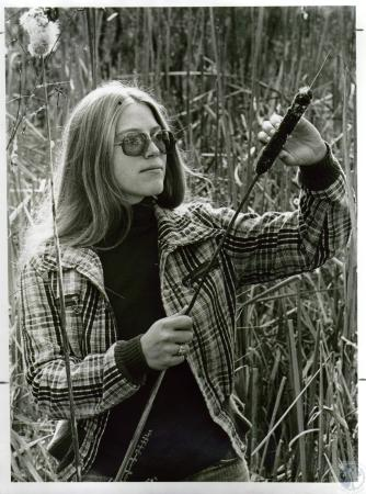 Image: di04623 - Mindy Trimpe, 20 - first woman in Northern Kentucky to complete all 3 phases of Scoutmaster Training....