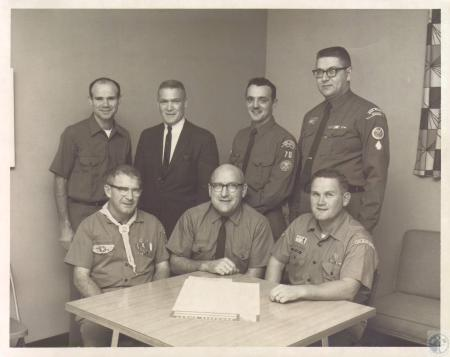 Image: di06612 - (seated) John Marshall, Don Gilchrist, Ted Kleier, (standing) Charles Wolfe, Lou Crawford, Tony Rizzo,....