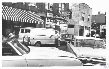 Image: di06837 - William Horstman & Richard Allen Phillips fighting, on 5th Street