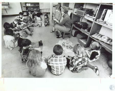Image: di09340 - Mrs. Ruth Rothermel and Kindergarten Class at Calvary Kindergarten
