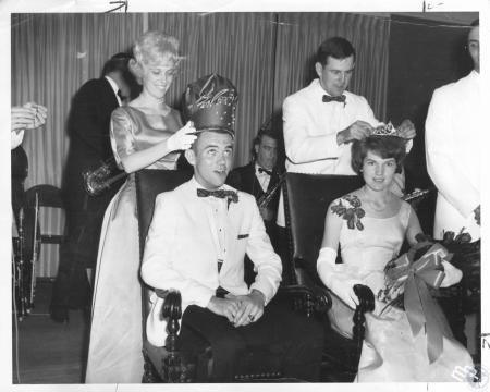 Image: di09681 - Standing left: Prom co-chairman Marlene Geiman, Standing right: Senior Class President Jack Broxterman,....