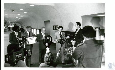 Image: di10093 - ribbon cutting ceremony - George Williams, Richard Jones, Pete Burris, Jim Barnhart, David James