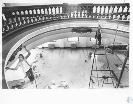 Image: di10340 - Old Kenton County Library being painted and cleaned to open as Arts Center