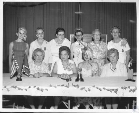 Image: di10404 - Florence Kelin, Tracy Barnes, Mrs. Fred Judy, Mrs. Jack Kerns, Mrs. Mac Rice, Mrs. Olga Horn, Mrs. Lucille....