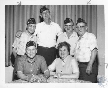 Image: di10406 - (Standing) Robert L. Keys, Sid Owens, Owen Egbring, Bernie Olding, (seated) Ruth Penny, Walter Klare