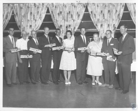 Image: di10465 - (order of names uncertain) Paul Evans, Walter Dreiling, Dan Smith, Bob Thomas, Jean Caudill, Raymond....