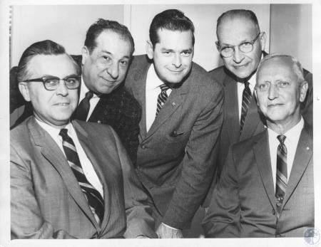 Image: di10556 - A.C. Moreland, Louis Hutter, Charles Barker, Herman Hanneken, Howard Walthers