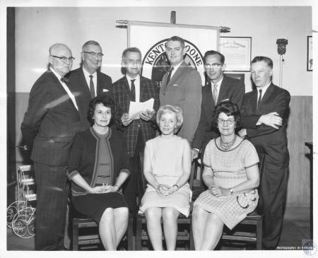 Image: di10704 - (Seated) Lora Welch Aurandt, Betty Poncer, Loreda Eastenfelder, (standing) William Ammerman, Everett....