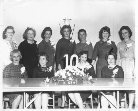 Image: di10761 - Mrs. Russell Wilmhoff, Mrs. John Acree, Mrs. Rector Jones, Mrs. Floyd Kells, Mrs. Robert Howard, Mary....