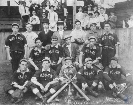 Image: di100282 - West Covington Baseball Club.  F. Boellinger, photographer, Cincinnati, OH