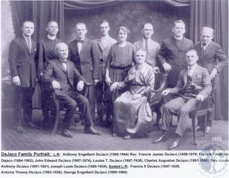 Image: di100349 - DeJaco Family Portrait: Anthony Engelbert DeJaco, Rev. Frances James DeJaco, Francis Frederick Dejaco,....