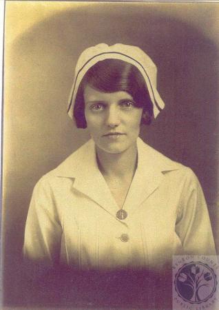 Image: di100597 - Gladys Taylor, graduation portrait from Speers Nursing School