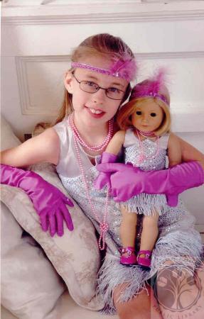 Image: di100615 - American Girl Pageant - Sara Kirkpatrick with American Girl doll