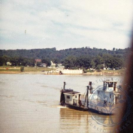 Image: di101530 - The Martha A. Graham sidewheel ferryboart between Ghent and Vevay Indiana