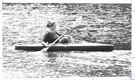 Image: di11142 - Debbie Dimuzio kayaking at Camp Marydale