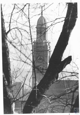 Image: di12250 - steeple of church shot from Devou Park