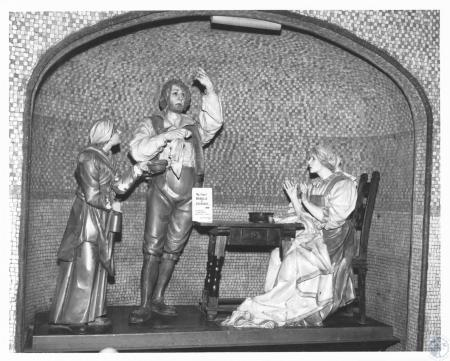 Image: di12254 - display in Grotto - First Miracle in Lourdes