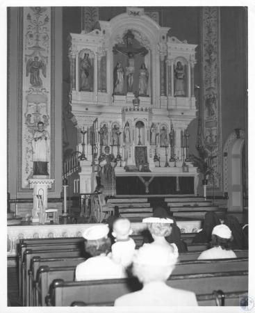 Image: di12274 - service, showing altar