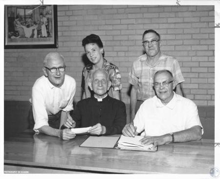 Image: di12280 - festival committee: Harry Gausepohl, Rev. Nicholas Judermanns, Mrs. Anne Bruemmer, Lou Wenning, Hilbert....