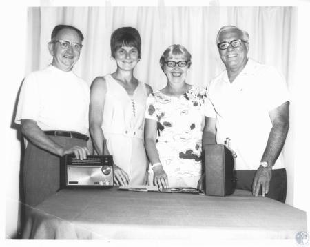 Image: di12378 - Theron Bennett, Mrs. Ralph Boschert, Mrs. William Luehr, & Lee Plummer - parish festival committee