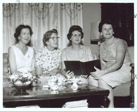 Image: di12391 - Rosary Society - Mrs. Edith Koehler, Mrs. Marie Sweeney, Mrs. Virginia Burkhart, Mrs. Ann Simon