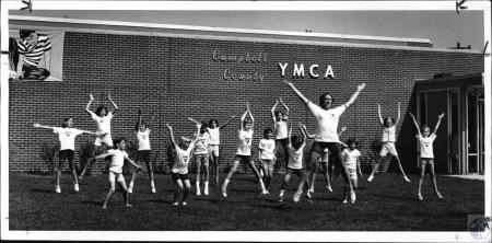 Image: di127895 - Linda Knauf, cheerleading instructor at Campbell Co. YMCA