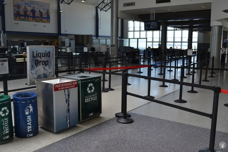 Image: di128349 - Deserted securtiy check points at the Greater Cincinnati International Airport