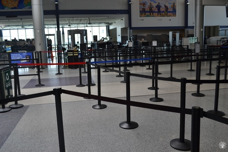 Image: di128351 - Deserted securtiy check points at the Greater Cincinnati International Airport