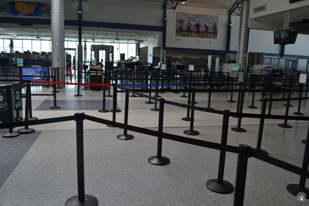 Image: di128353 - Deserted securtiy check points at the Greater Cincinnati International Airport