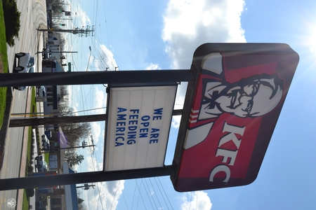 Image: di128372 - Kentucky Fried Chicken restaurant is one of the many restaurants open for carry out only