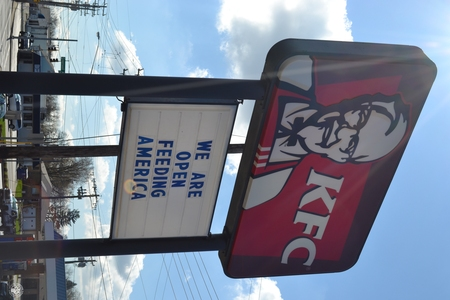 Image: di128373 - Kentucky Fried Chicken restaurant is one of the many restaurants open for carry out only