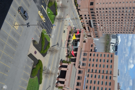 Image: di128410 - View of Marriott and Embassy Suites with nearly empty road and parking lot