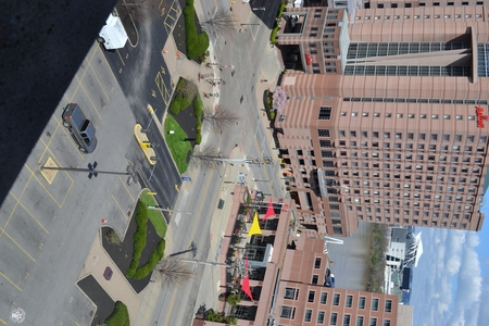 Image: di128411 - View of Marriott and Embassy Suites with nearly empty road and parking lot
