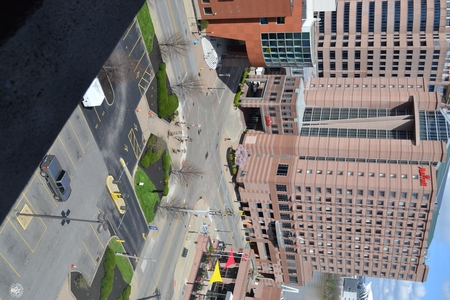 Image: di128412 - View of Marriott and Embassy Suites with nearly empty road and parking lot