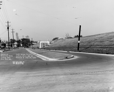 Image: di128535 - Median on Riverside Drive, looking West from Park Avenue, I-471 bridge project. Photo from Stevie Photo....