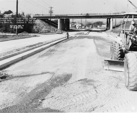Image: di128536 - Riverside Drive, looking West from Beech Street. Photo from Stevie Photo Lab - 400 Fairfield Avenue Bellevue,....