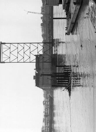 Image: di128721 - Looking South at North protection cage span 8, I-471 bridge project
