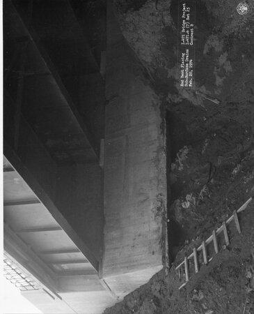 Image: di128734 - End bent placing  sub-surface drains, I-471 bridge project