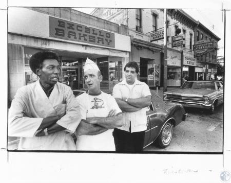 Image: di13299 - Frenchman Napier (51) - Frenchman's Shoe Repair, Everett Justice (54) - Excello Bakery, and George Stephens....
