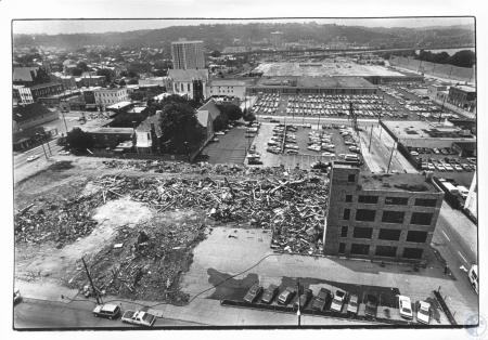 Image: di13662 - Covington - demolished area is site of new IRS building - old IRS in back ground center - photo taken....