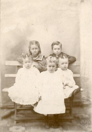Image: di131151 - Front to Back, Left to Right: Corrine Gill, Ora Whaley, Edith Northcutt. Back row: Mabel Gill, and Harry....