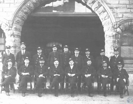 Image: di14391 - Fireman (Political Appointees) Top Row, From Left: Capt. Henry Bush, Big Joe Whitaker, Asst. Chief Tom....