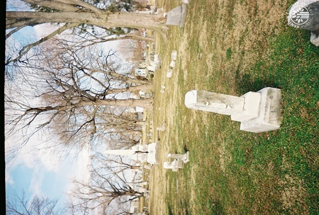 Image: di140094 - View of the cemetery and the Protestant Childrens Home marker.